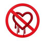 没有Heartbleed标志 库存图片