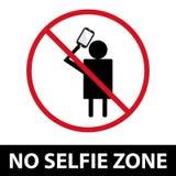 没有selfie区域标志 EPS10 免版税图库摄影
