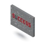 没有U 3D块墙壁例证的成功词 图库摄影