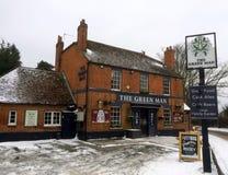 没经验的工作人员酒家在布拉克内尔,英国在一斯诺伊天 免版税库存图片