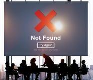 没被找到的错误数据互联网网上技术概念 免版税图库摄影