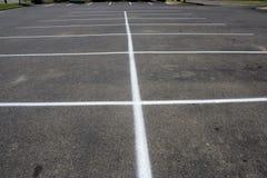 沥青停车场条纹 库存图片