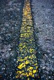 沥青有老标号线的纹理路 室外 免版税图库摄影