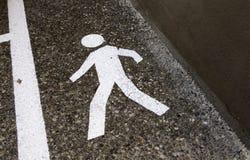 沥青的步行者 免版税图库摄影