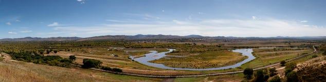 沥青的luanhe河 库存图片