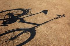 沥青自行车树荫 免版税库存照片