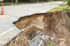 沥青被中断的路 免版税库存照片