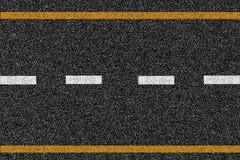 沥青高速公路与标号的路纹理 库存照片