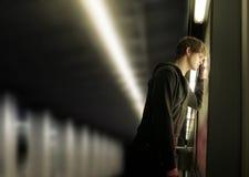 沮丧的人年轻人 免版税图库摄影