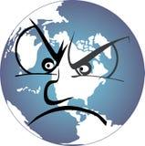 沮丧的地球 免版税库存图片