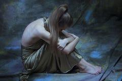 沮丧的妇女年轻人 免版税图库摄影