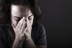沮丧的妇女 免版税图库摄影