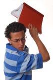沮丧的学员 免版税图库摄影