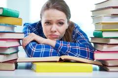 沮丧的学生 库存照片
