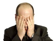 沮丧的生意人 免版税库存照片