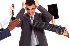 沮丧的生意人 免版税库存图片