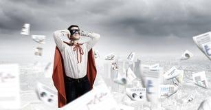 沮丧的超人 免版税库存照片