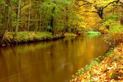 河。 库存照片