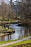 河之字形在公园 免版税图库摄影
