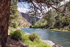 绿河乐队,位于西美国,是ch 库存照片
