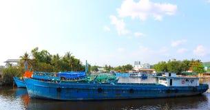 河交通在越南 免版税库存照片