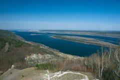 河伏尔加河 库存照片