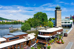 河伏尔塔瓦河布拉格捷克 免版税图库摄影