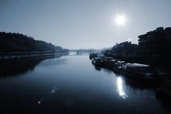 河伏尔塔瓦河 图库摄影