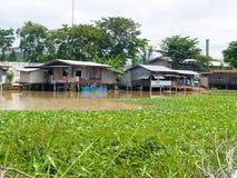河住宅在曼谷,泰国 免版税库存图片