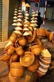河内越南2015年3月01日:河内人生的纪念品由竹子制成 库存图片