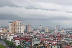 河内雨视图 免版税库存图片