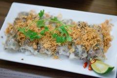 河内,越南3月13日: :地方食物在2015年3月13日的越南 免版税库存图片