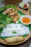 河内,越南3月13日: :地方食物在2015年3月13日的越南 图库摄影