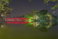 河内,越南- 12月01 :还剑湖看法  在Dece 免版税库存图片