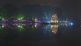 河内,越南- 12月01 :还剑湖看法  在Dece 库存照片