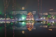 河内,越南- 12月01 :还剑湖看法  在Dece 免版税库存照片