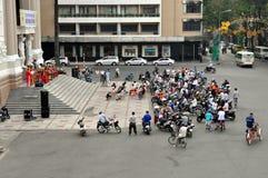 河内-在街道上的歌剧院音乐会 免版税库存图片
