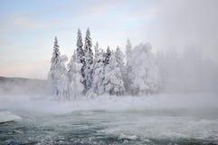 河冬天 库存照片