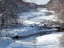 河冬天 免版税库存图片