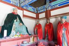 河北,中国- 2015年10月13日:在三义庙的官屿雕象 一fam 免版税图库摄影