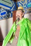 河北,中国- 2015年10月13日:在三义庙的庞统雕象 A 库存照片