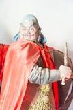 河北,中国- 2015年10月13日:在三义庙的Zhangfei雕象 F. stratocaster电吉他 库存图片