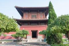 河北,中国- 2015年10月23日:开元寺 著名历史的si 图库摄影