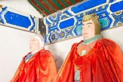河北,中国- 2015年10月13日:Ma戴和马超雕象在圣的 免版税库存照片