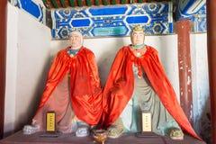 河北,中国- 2015年10月13日:Ma戴和马超雕象在圣的 库存图片