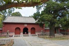 河南,中国- 2015年11月04日:会善寺(联合国科教文组织世界遗产名录 免版税库存照片