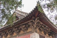 河南,中国- 2015年11月04日:会善寺(联合国科教文组织世界遗产名录 库存照片