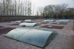 河南,中国- 2014年11月26日:商代皇家公墓 一famo 免版税库存图片