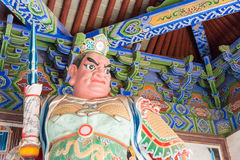 河南,中国- 2015年11月03日:在法王寺的雕象 著名喂 库存照片