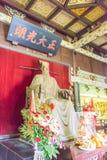 河南,中国- 2015年11月14日:在纪念寺庙的包拯雕象 库存图片